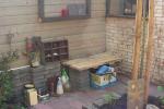 hout en steen schutting