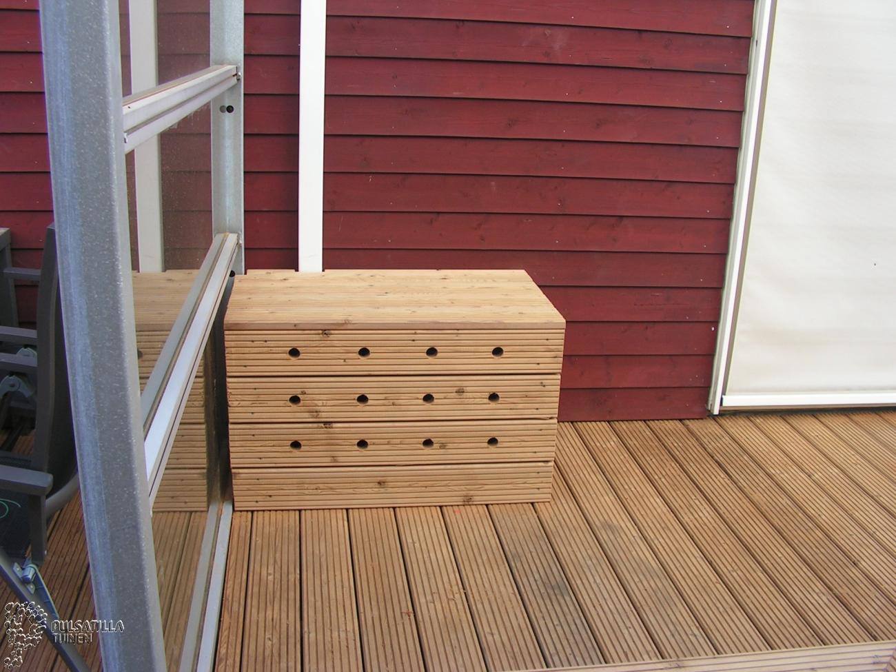 modiwood bank tuin rond airco